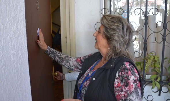 Alcaldesa Virginia Reginato participó de voluntaria en Censo 2017