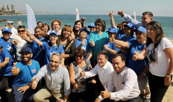 En Viña del Mar se realizó balance de campaña nacional de libre acceso a playas