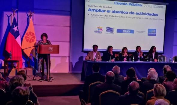 Alcaldesa Virginia Reginato destacó proyecto de desarrollo integral para Viña del Mar en Cuenta Pública de la Gestión Comunal 2018