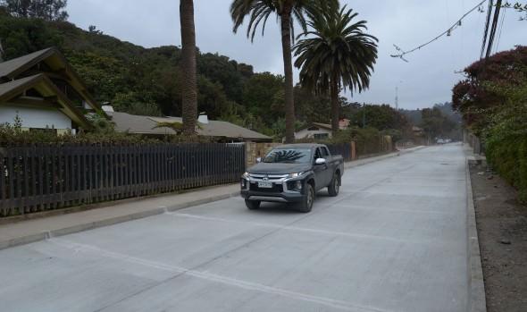 Rápido avance presenta reposición de calle Salvador Vergara en Reñaca