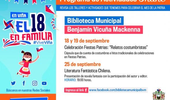 Fondas, conciertos y tradiciones para compartir on line ofrece municipio de Viña del Mar para estas Fiestas Patrias