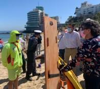 Caleta Abarca es la primera playa de Viña del Mar habilitada para el nado