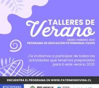 Patrimonio de Viña del Mar, invita a los Talleres de Verano online del Programa de Educación Patrimonial Pasos
