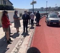Fortalecen seguridad vial en Av. La Marina con aplicación de sello que aumenta adherencia de neumáticos