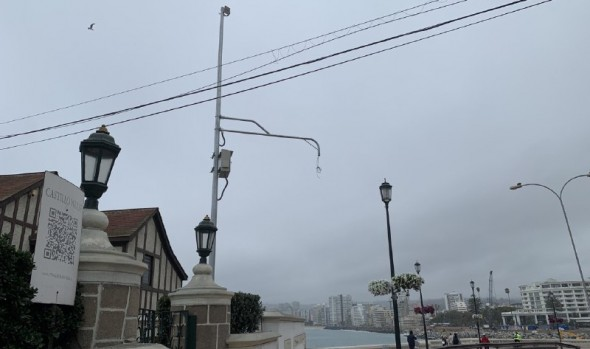 Municipio de Viña del Mar potencia seguridad con instalación de nuevas cámaras de televigilancia