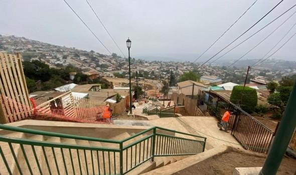 Finaliza construcción de emblemática escalera Huasco en campamento Manuel Bustos