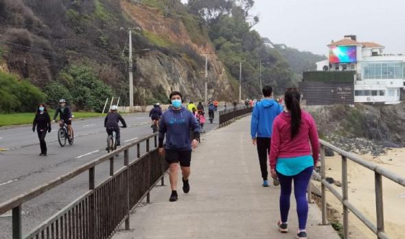 Municipio de Viña del Mar potencia franja deportiva con circuito continuo de más de 7 kilómetros y medidas de seguridad