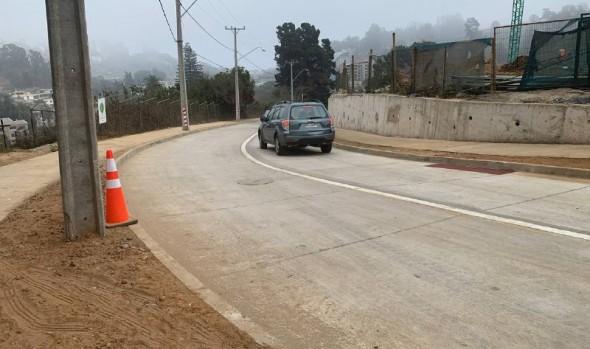 Municipio de Viña del Mar reabrió calle Manuel Bulnes en Reñaca al tránsito vehicular