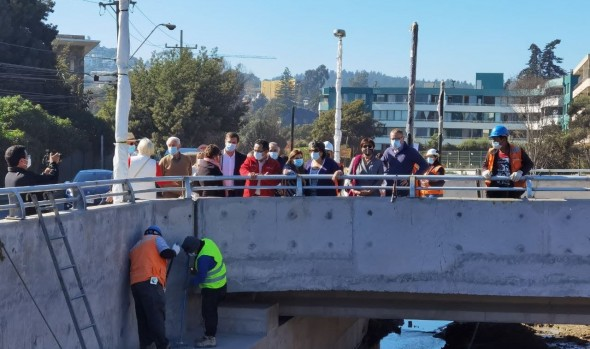 90% de avance registran puentes en Reñaca y se afinan detalles para su entrega