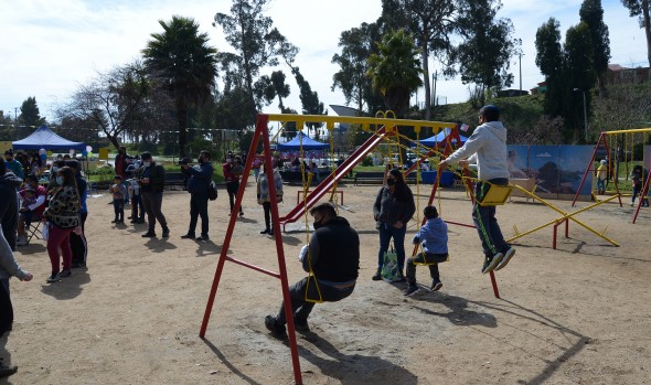 Niños y Niñas de Forestal disfrutaron actividades artísticas y recreativas en intervención ciudadana municipal