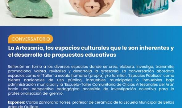 La artesanía, los espacios culturales y la educación abordará conversatorio en canal Youtube de la Unidad de Patrimonio