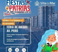 Niñas y niños contarán con feria de juegos en Av. Perú estas Fiestas Patrias en Viña del Mar