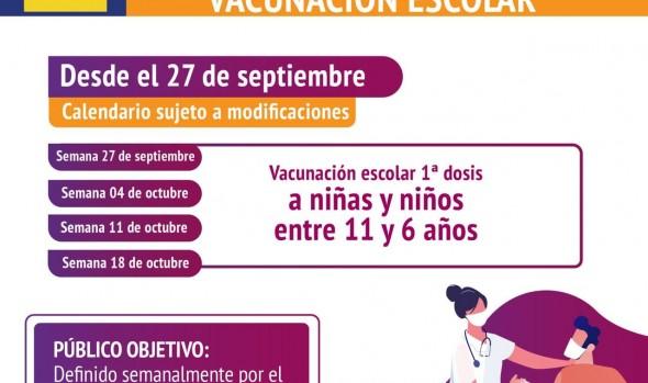 Salud reorganiza vacunatorios por inicio de inoculación en niños y niñas de 6 a 11 años